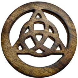 Small Wooden Triquetra Altar Tile