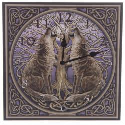 Lisa Parker Wolves & Tree of Life Picture Clock