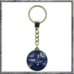 Flying Witch Glass Keyring