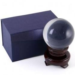 Crystal Ball - 80 mm - With Wooden Stand