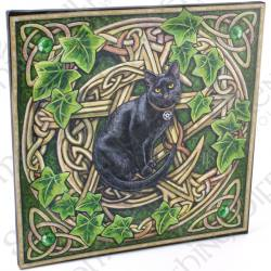Lisa Parker Cat & Pentagram Wall Plaque