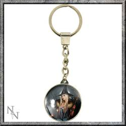 The Winter Witch Glass Keyring