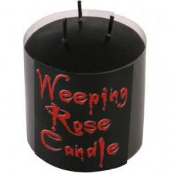 Small Weeping Rose Pillar Candle