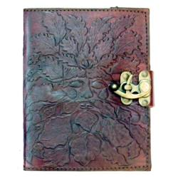Brown Leather Green Man Journal With Latch