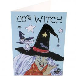 100% Witch Card