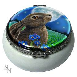Moongazing Hare Trinket Box