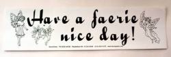 Faerie Nice Day Sticker