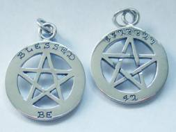Blessed Be Pentagram Pendant
