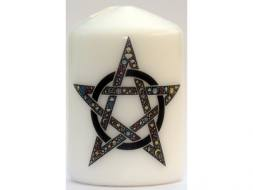 Celtic Pentagram Candle