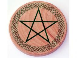 Celtic Pentagram Wooden Altar Tile