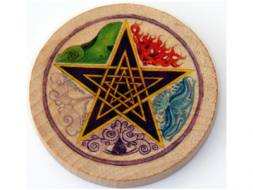Pentagram Elements Wooden Altar Tile