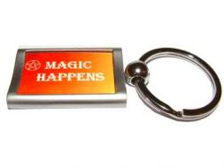 Magic Happens Aluminium Keyring