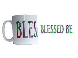 Coloured Blessed Be Mug