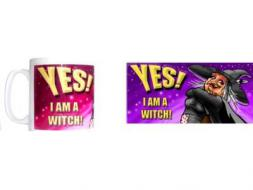 Yes I Am A Witch Picture Mug