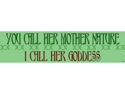 Mother Nature Goddess Sticker