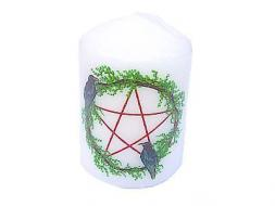 Pentagram & Crow Candle