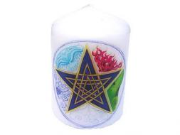 Pentagram & Elements Candle