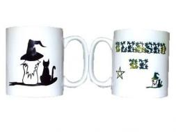 Blessed Be Witch and Cat Mug