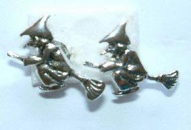 Flying Witch Stud Earrings