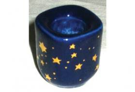 Small Ceramic Starry Candle Holder
