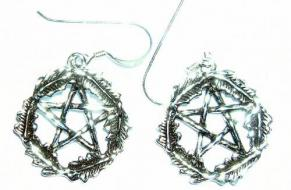 Oak Leaf Pentacle Earrings