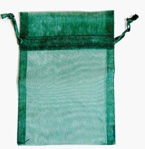 Small Green Organza Bag