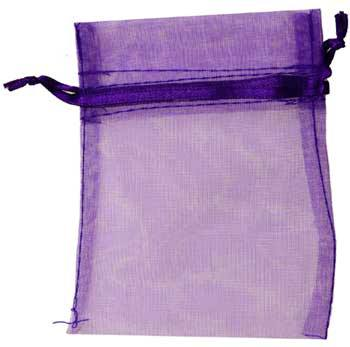 Small Purple Organza Bag