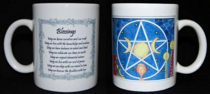 Blessings - Blue Mug