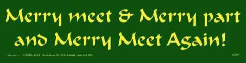 Merry Meet & Merry Part  Sticker