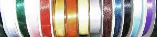 De-Luxe Double Satin Ribbon - 15mm - 1 metre: Silver