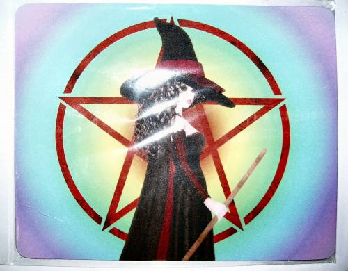 Witch On Pentacle Rainbow Mousemat